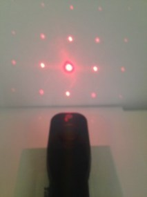Red Laser Blox Diffraction